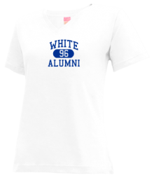 White Elementary School  V-neck Shirts