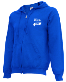White Elementary School  Zip-up Hoodies