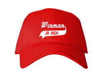 Winman Junior High School Baseball Caps