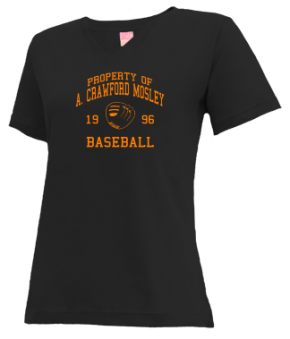 A. Crawford Mosley High School V-neck Shirts