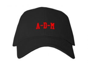 A-d-m High School Kid Embroidered Baseball Caps
