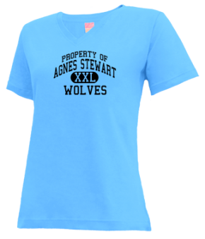 Agnes Stewart Middle School V-neck Shirts