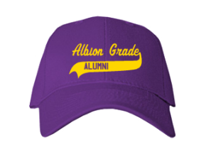 Albion Grade School Embroidered Baseball Caps