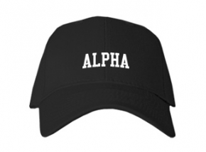 Alpha High School Kid Embroidered Baseball Caps