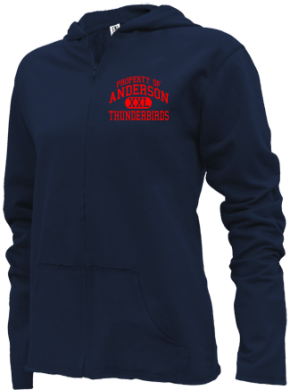 Anderson Elementary School Girls Zipper Hoodies