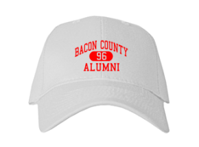 Bacon County Middle School Embroidered Baseball Caps