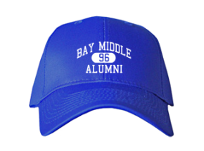 Bay Middle School Embroidered Baseball Caps