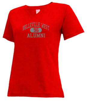 Belleville West High School V-neck Shirts