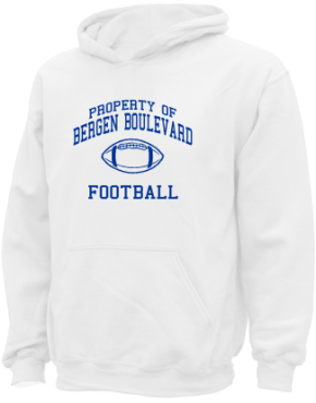 Bergen Boulevard School Kid Hooded Sweatshirts