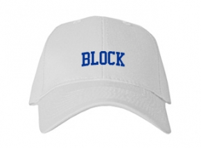 Block High School Kid Embroidered Baseball Caps