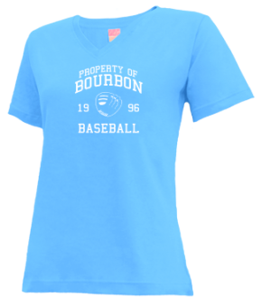 Bourbon High School V-neck Shirts