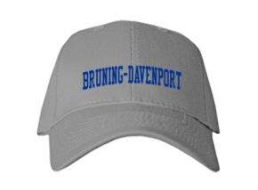 Bruning-davenport High School Kid Embroidered Baseball Caps