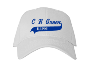 C B Greer Elementary School Embroidered Baseball Caps