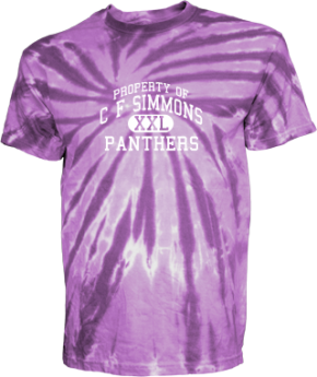C F Simmons Middle School Kid Tie-dye T-Shirts