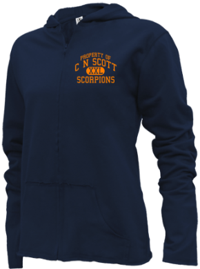 C N Scott Middle School Girls Zipper Hoodies