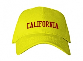 California Elementary Middle School Kid Embroidered Baseball Caps