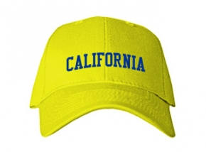 California Middle School Kid Embroidered Baseball Caps