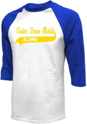 Cedar Drive Middle School Raglan Shirts