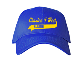 Charles I West Middle School Embroidered Baseball Caps