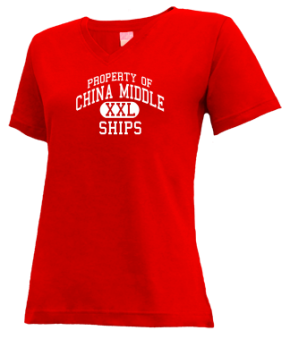 China Middle School V-neck Shirts