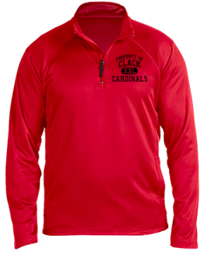 Clack Middle School Stretch Tech-Shell Compass Quarter Zip
