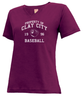 Clay City High School V-neck Shirts