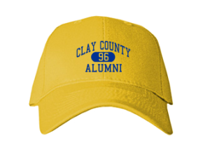 Clay County School Embroidered Baseball Caps