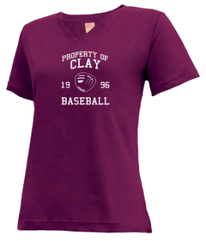 Clay High School V-neck Shirts
