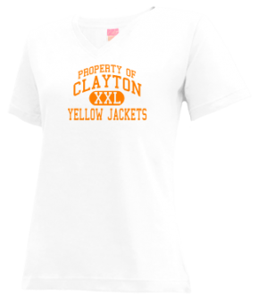 Clayton Junior High School V-neck Shirts