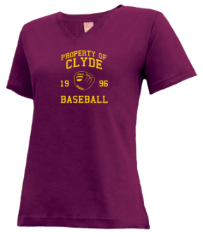 Clyde High School V-neck Shirts