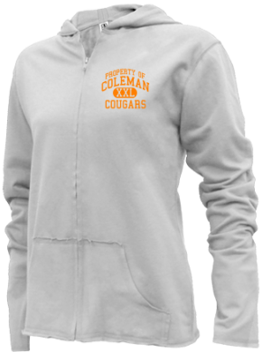 Coleman Middle School Girls Zipper Hoodies