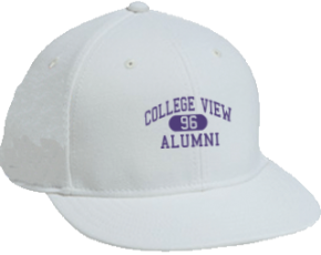 College View Middle School Flat Visor Caps
