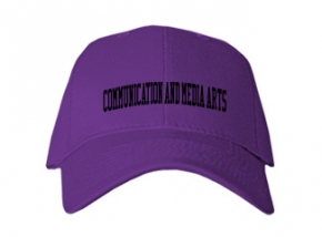 Communication And Media Arts High School Kid Embroidered Baseball Caps