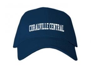 Coralville Central School Kid Embroidered Baseball Caps