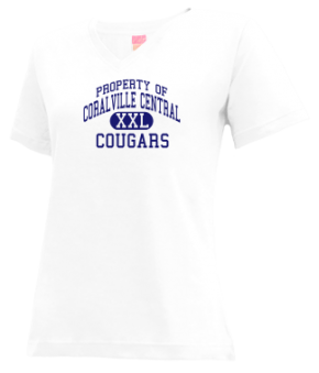 Coralville Central School V-neck Shirts