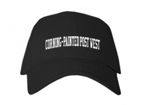 Corning-painted Post West High School Kid Embroidered Baseball Caps