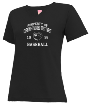 Corning-painted Post West High School V-neck Shirts