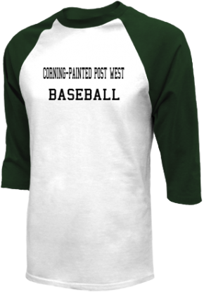 Corning-painted Post West High School Raglan Shirts