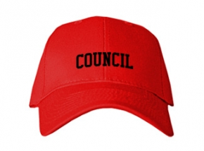 Council High School Kid Embroidered Baseball Caps