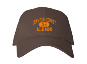 Crawford County High School Embroidered Baseball Caps