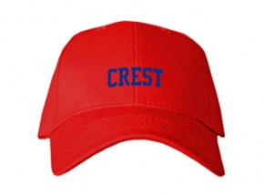 Crest High School Kid Embroidered Baseball Caps