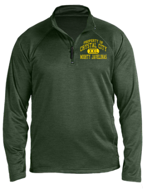Crystal City High School Stretch Tech-Shell Compass Quarter Zip
