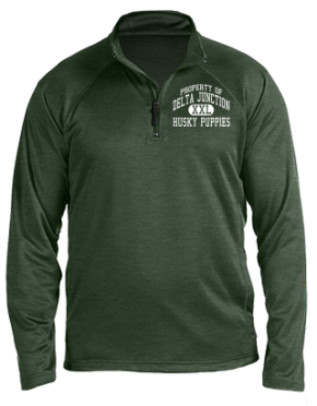 Delta Junction Elementary School Stretch Tech-Shell Compass Quarter Zip