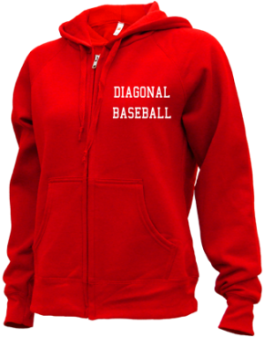 Diagonal High School Zip-up Hoodies
