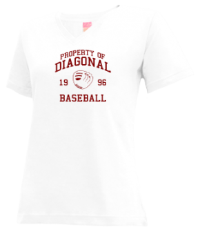 Diagonal High School V-neck Shirts