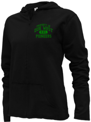 Due West Elementary School Girls Zipper Hoodies