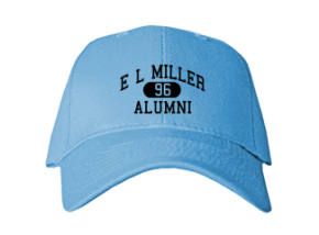 E L Miller Elementary School Embroidered Baseball Caps