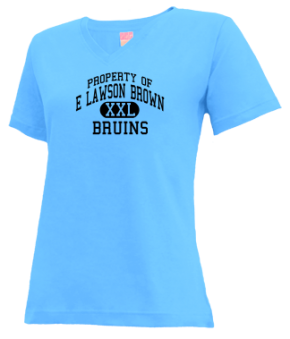 E Lawson Brown Middle School V-neck Shirts