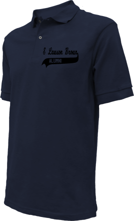 E Lawson Brown Middle School Embroidered Polo Shirts