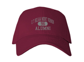 E T Belsaw Mount Vernon School Embroidered Baseball Caps